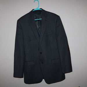 Chaps Suit Blazer - 100% Wool with Elbow Patches